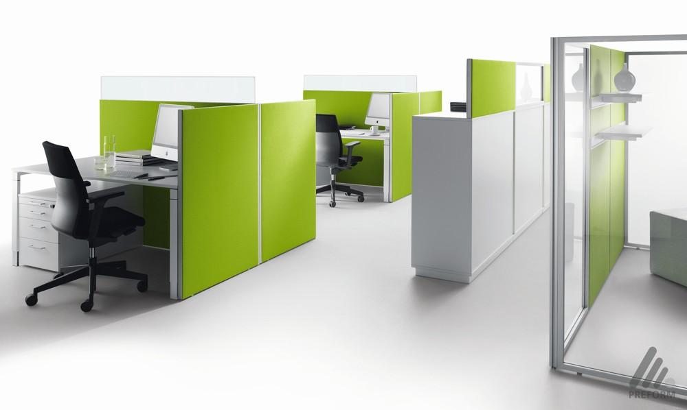 Decato Modul-ModulSystem: Baukasten-Raumgliederungssystem/Arbeitsplatzumbauung. Design: Nicole Liebrich.