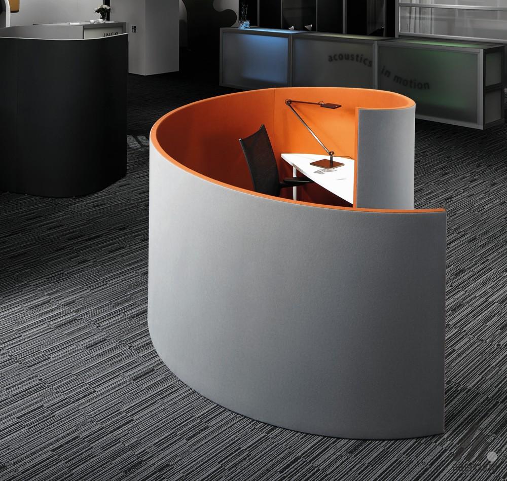 Decato Modul-ModulSystem acoustics in motion Nautilus. Design: Nicole Liebrich.