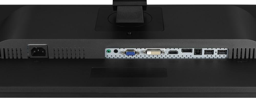 Um für alle Eventualitäten gerüstet zu sein, bieten die 27-Zoll-Monitore (hier LG) ein wahres Anschlusspotpourri.