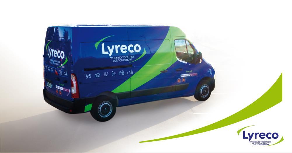 Das Rebranding von Lyreco spiegelt sich auch auf den Vans wider. Abbildung: Lyreco