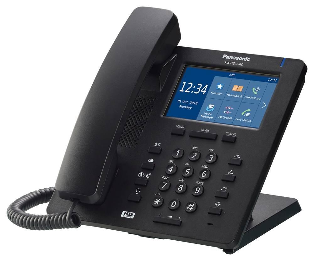 Die schwarze Variante des Terminals KX-HDV340. Abbildung: Panasonic