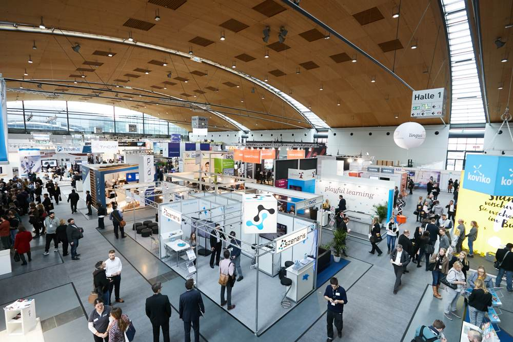 Zur Learntec in Karlsruhe kamen 341 Aussteller und über 11.600 Besucher. Abbildung: KMK/Behrendt und Rausch