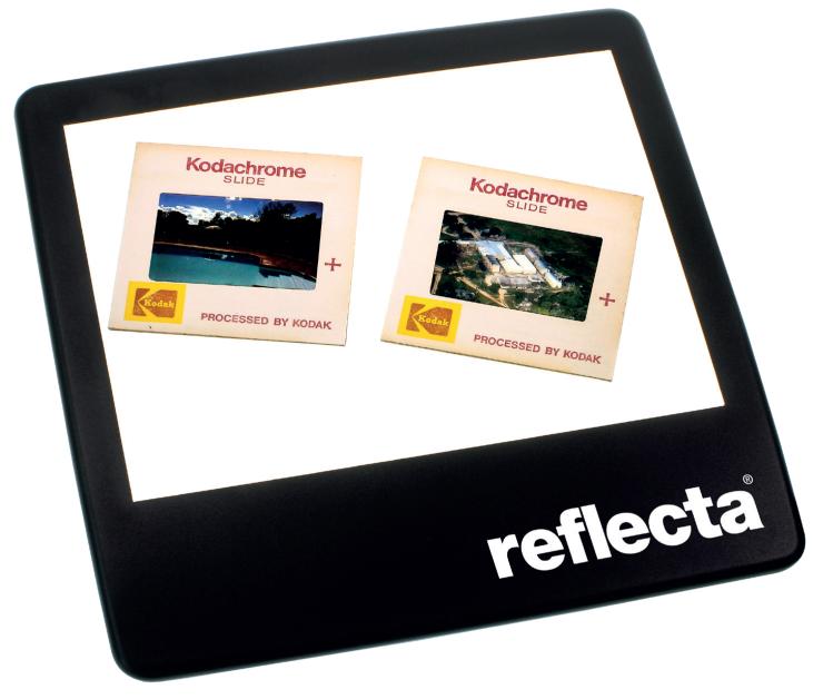 Neue Mini-Leuchtplatte für vier Dias von Reflecta