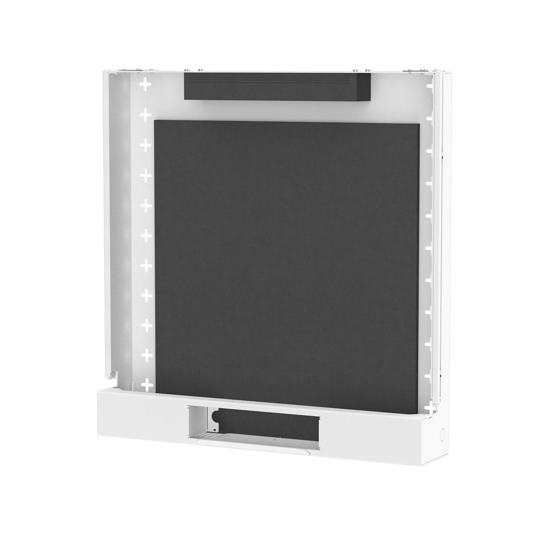 Die BackBox hat eine Größe von 575 x 593 x 120 mm und kann Lasten bis 45 kg tragen. Abbildung: Kindermann