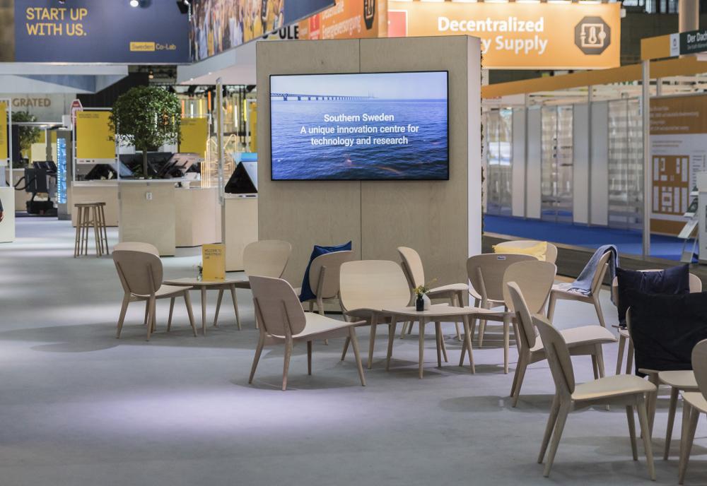 Hannover Messe: Kinnarps gestaltete Schweden-Pavillon