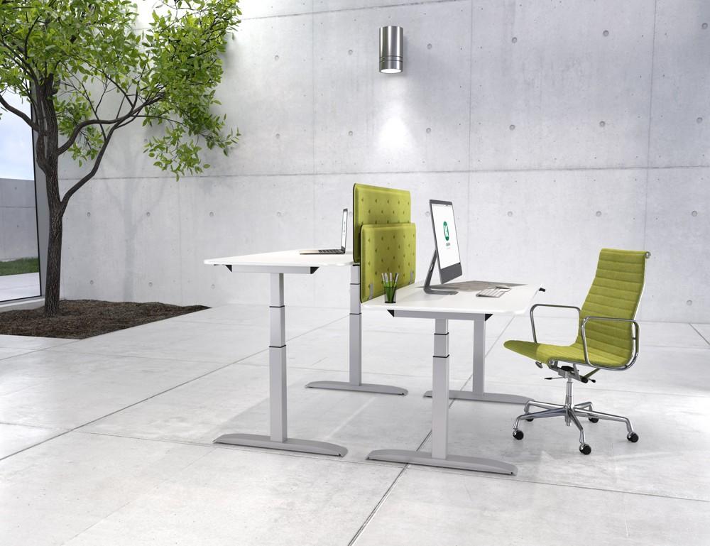 Kesseböhmer Ergonomietechnik fertigt höhenverstellbare, ergonomische Gestell-Systeme aus Stahl und Stahl/Alu, die in Schreibtischen, Schülertischen und Montagetischen eingebaut werden.