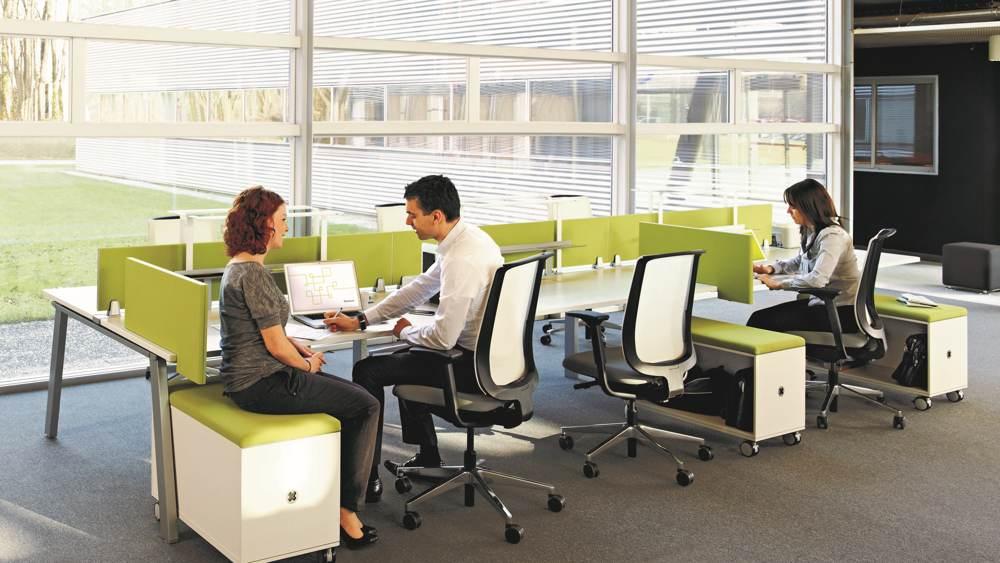 """Eines der Produkte, die erst kürzlich mit dem Level-Siegel ausgezeichnet wurden: Die """"Fusion Bench"""" von Steelcase. Abbildung: Steelcase"""