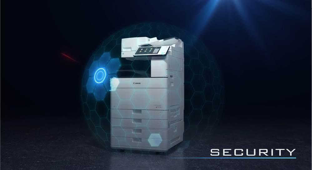 Canon arbeitet mit McAfee zusammen, um die Sicherheit seiner Drucksysteme zu erhöhen. Abbildung: Canon