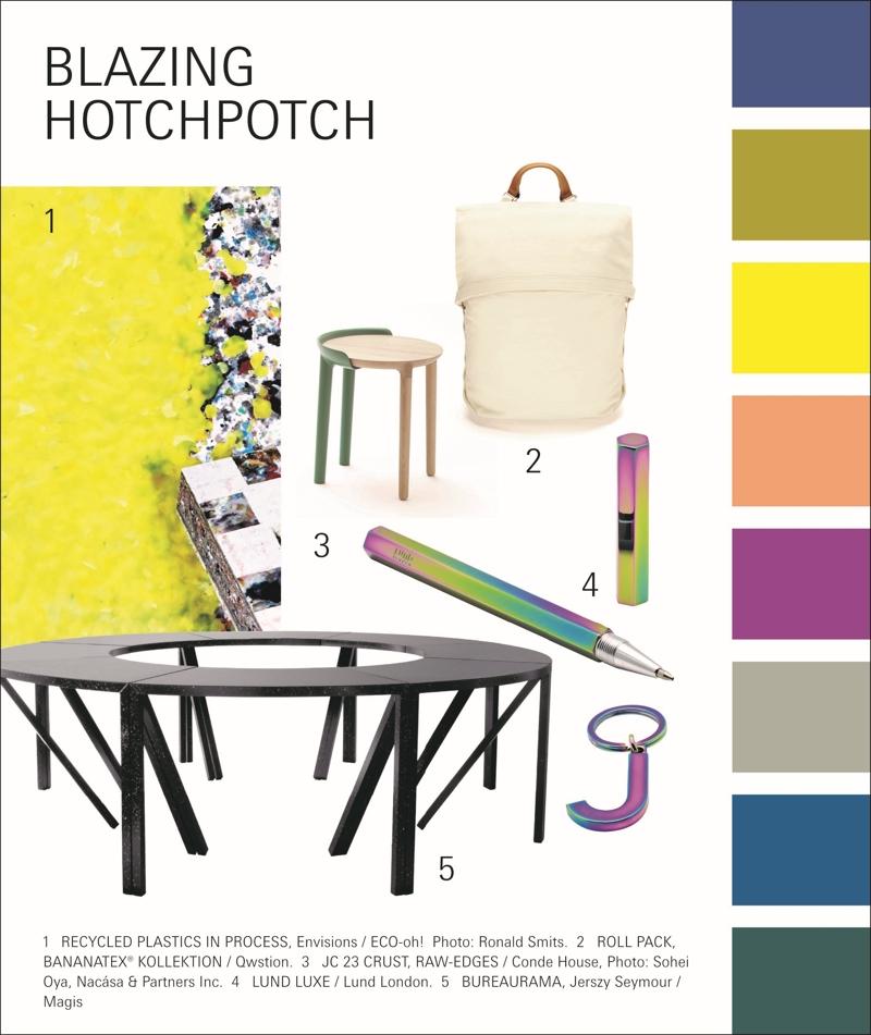 Ausgewählte Produkte des Trends Blazing Hotchpotch. Abbildung: Messe Frankfurt