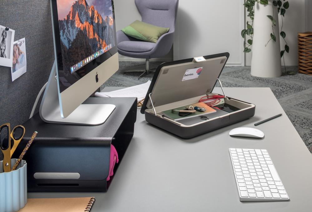 Die Bento-Monitorerhöhung mit der Bento-Toolbox. Abbildung: Dataflex