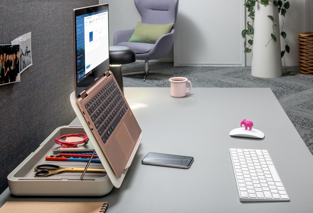 Die Bento-Toolbox ist auch ein Notebook- und Tablet-Ständer. Abbildung: Dataflex