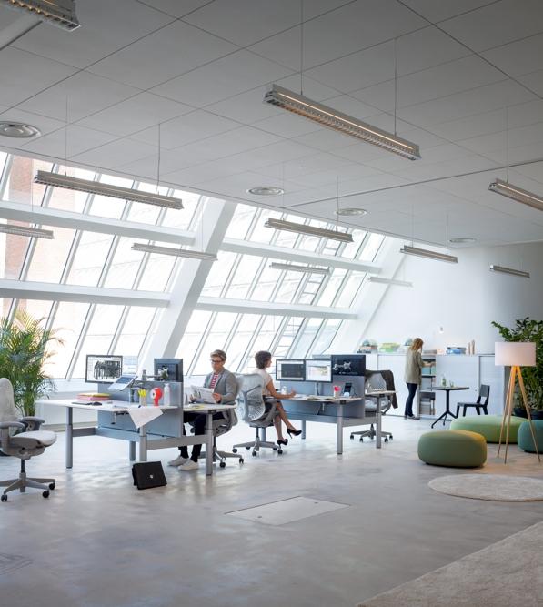 Passt sich optimal in die Büroumgebung ein: die Viewmate-Kollektion von Dataflex. Abbildung: Dataflex