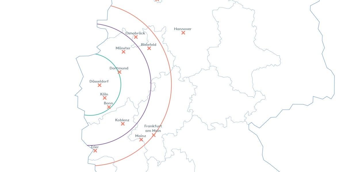 In einem Radius von 200 km um Düsseldorf ist der Installationservice von Dataflex verfügbar. Abbildung: Dataflex