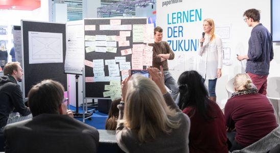 Das Impulsareal zeigt Möglichkeiten zukünftigen Lernens und Lehrens. Abbildung: Messe Frankfurt GmbH/Jens Liebchen 2019
