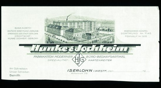 Der erste Briefkopf des Unternehmens aus dem Jahr 1920. Abbildung: Durable
