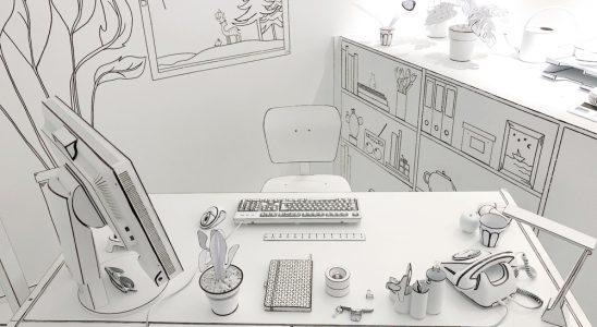 Das Cartoon-Büro im Instagram-Museum in Michelstadt im Odenwald. Abbildung: Maul