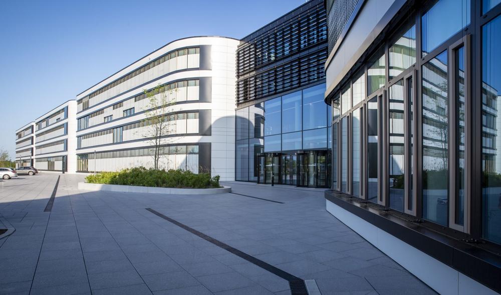 Die neue Firmenzentrale des Stromnetzbetreibers Amprion. Abbildung: Amprion