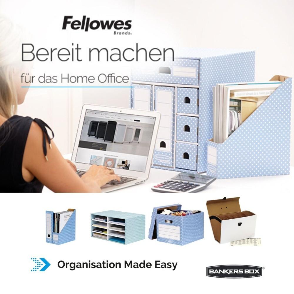 Bankers Box Organisationslösungen für das Home Office.