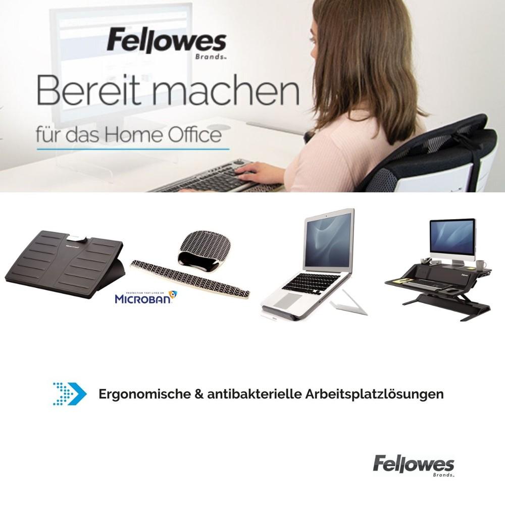 Ergonomische Lösungen für das Home-Office von Fellowes. Abbildund: Fellowes