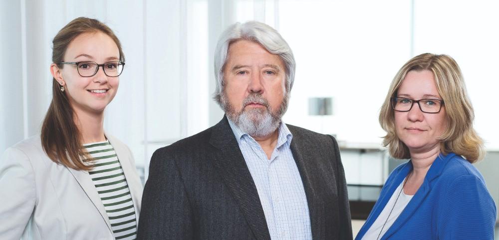 Die Palmberg-Geschäftsführung: Julianne Utz-Preußing, Uwe Blaumann und Nicole Eggert (v. l. n. r.). Abbildung: Palmberg
