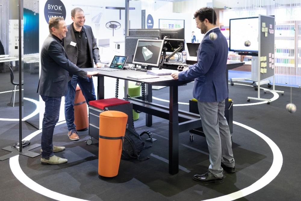 """Das """"Büro der Zukunft"""" steht 2021 ebenfalls unter dem Top-Thema """"Sustainability"""". Abbildung: Paperworld"""
