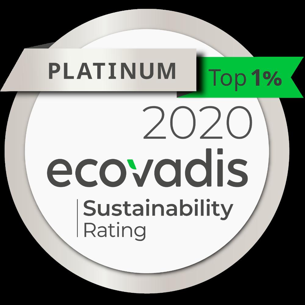 Epson konnte sich im Vergleich zum Vorjahr wiederum steigern und erhält nun den EcoVadis-Platin-Status. Abbildung: Epson