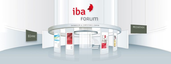 Das digitale IBA Forum vereint Showrooms verschiedener Hersteller und bietet auch Expertenbeiträge und Diskussionsrunden. Abbildung: IBA