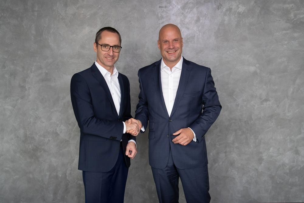 Die neue Geschäftsführung der Mercator-Leasing: Matthias Schneider (li.) und Dr. Norman Hoppen. Abbildung: MLF Mercator-Leasing GmbH & Co. Finanz-KG