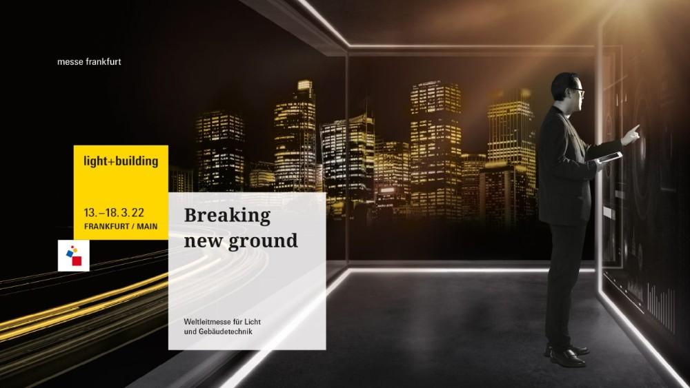 Das neue Key-Visual zur Light + Building 2022 ist eine Aufforderung an die Branche, gemeinsam innovative Wege zu gehen. Abbildung: Messe Frankfurt Exhibition GmbH