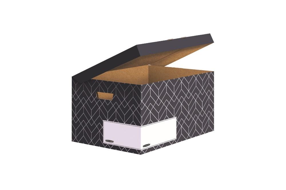 Bankers Box aus der Décor-Serie in Mitternachtsblau. Abbildung: Fellowes