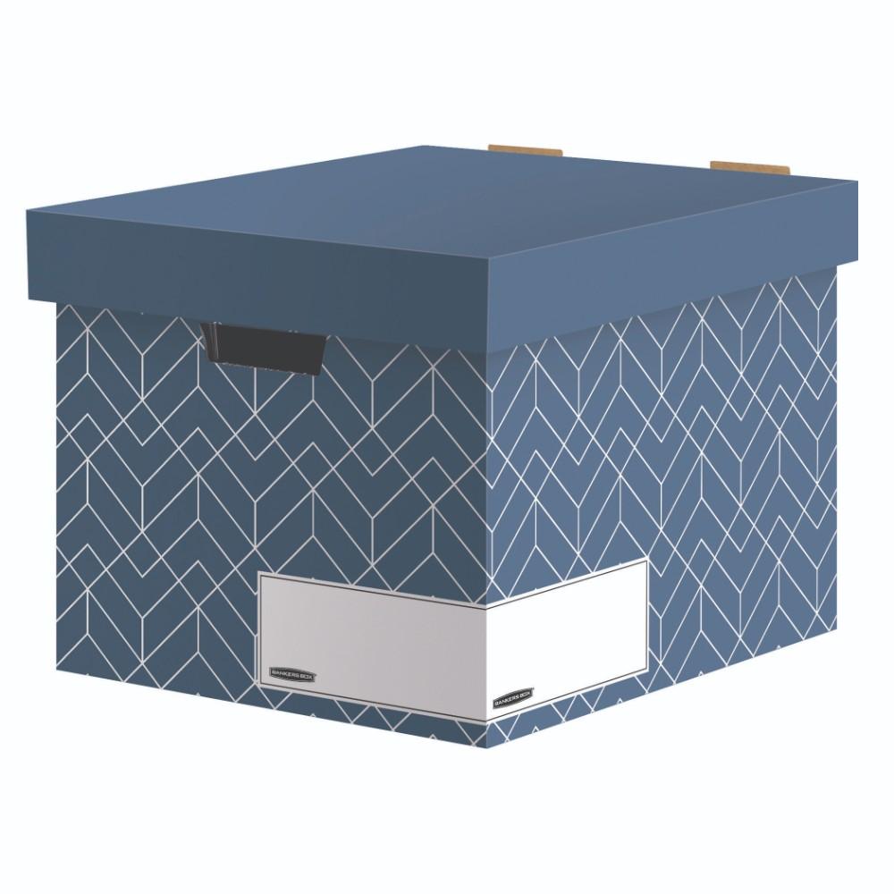Bankers Box aus der Décor-Serie in Schieferblau. Abbildung: Fellowes