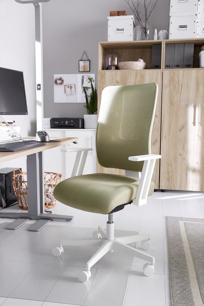 Die Wirbelsäule freut sich über einen individuell anpassbaren Bürostuhl. Abbildung: Schäfer Shop