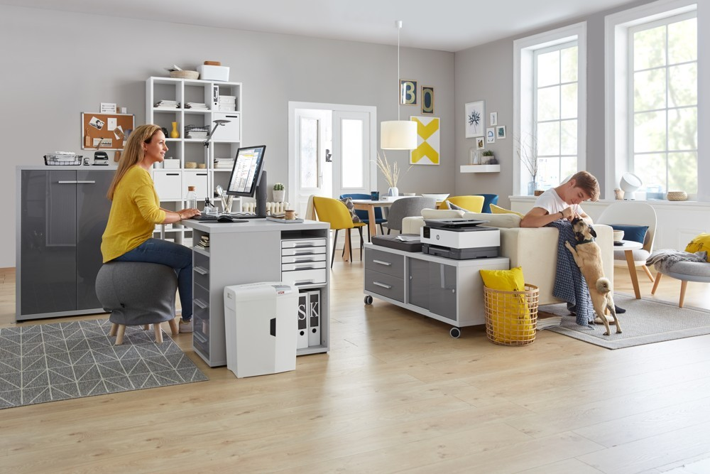 Die richtigen Organisations- und Ordnungsprodukte vereinfachen die Arbeit im Homeoffice maßgeblich. Abbildung: Schäfer Shop