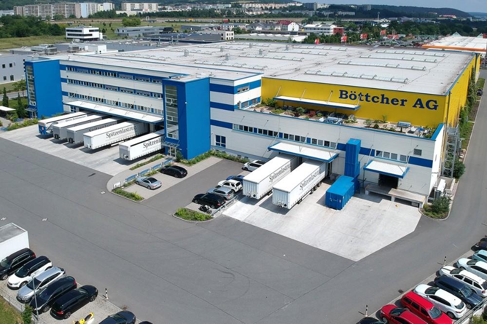 Die Logistikanlage der Böttcher AG in Jena. Abbildung: Böttcher AG
