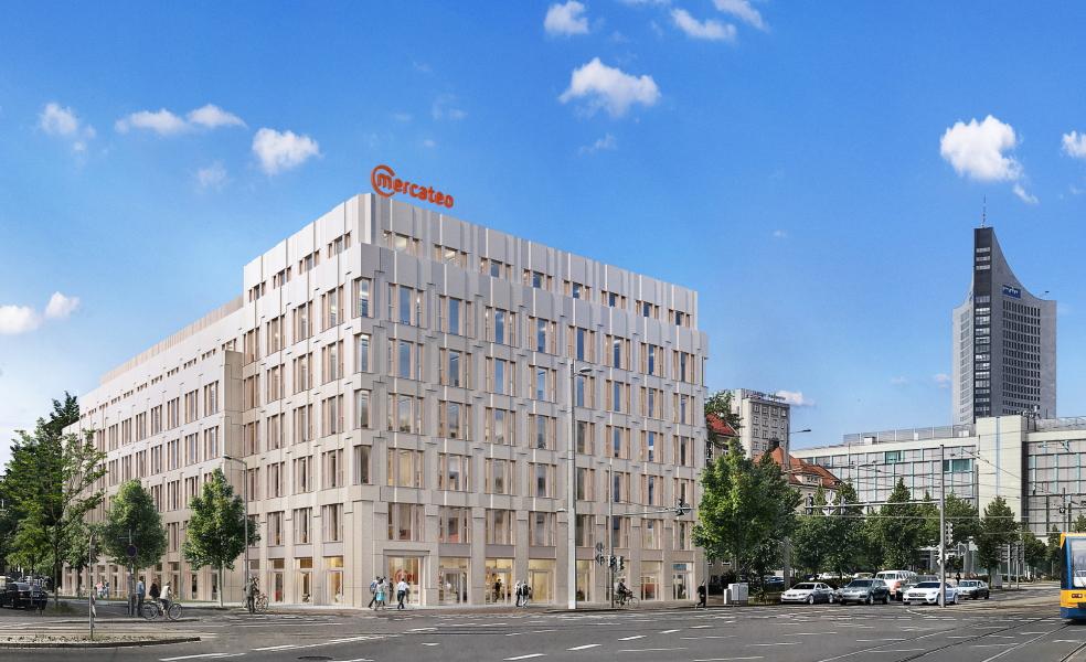 Die neue Unternehmenszentrale von Mercateo soll in Leipzig entstehen. Abbildung: Mercateo/Peter Ledermann