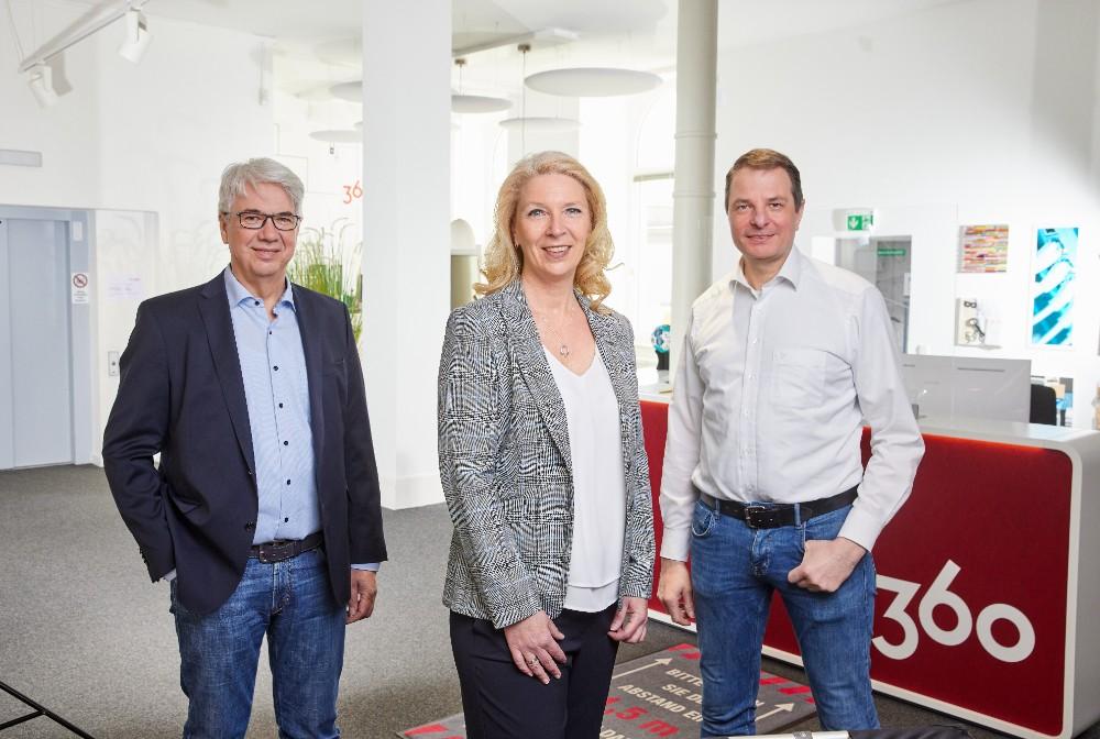 Das Führungsteam bei Office360 (von links): Helmut Fleischer, Marianne Sørensen und Peter Henke. Abbildung: Office360