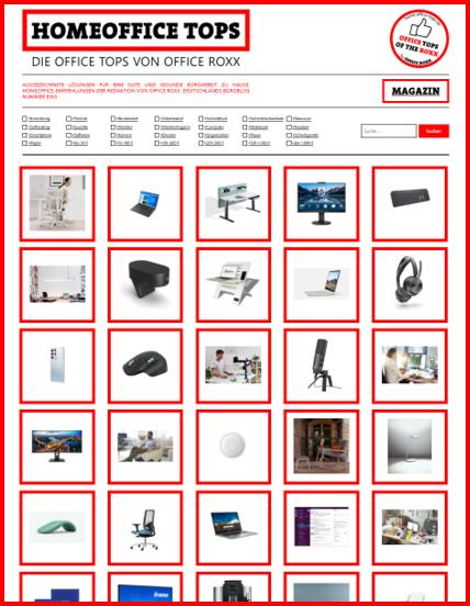 HOMEOFFICE TOPS: Eine Website mit Empfehlungen